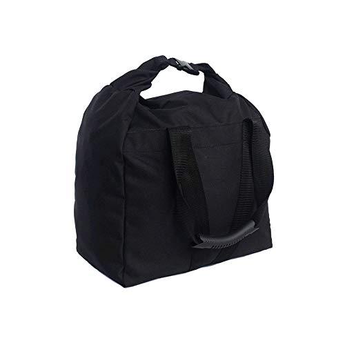 Namvo verstellbarer Sandsack Tragbarer weicher Sandsack zum Gewichtheben Hantel Gym Fitness Bodybuilding Yoga Training und Übung 5-10KG (Schwarz)