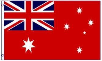 1000 Flags Australien-Flagge mit roter Seefahrt-Flagge, 150 x 90 cm