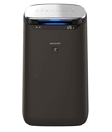 Sharp Air Purifier for Homes and Offices | Dual Purification - ACTIVE (Plasma Cluster Technology) and PASSIVE FILTERS (True HEPA H14, Carbon, Pre-Filter) | Model : FP-J80M-H