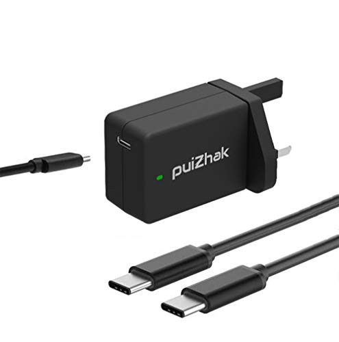PuiZhak Universal 45W Type C Wall Charger Adapter With 1.8M Cable For HP, Acer Chromebook, Asus, Nintendo Switch, Samsung Galaxy, Macbook Pro, Sony, Lenovo, Tablets, Motorola and More USB-C Devices