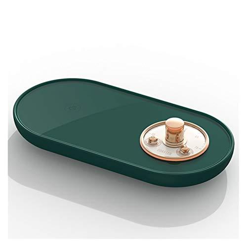 JJH Taza de café Vintage, Calentador, acoplado USB, Calentador de Bebidas, calefacción de Citas, té eléctrico, Calentador de Leche para el Escritorio de la Oficina de la Oficina (Color : Dark Green)