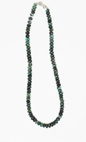 LOVEKUSH 50 % rabatt ädelsten smycken elegant grön smaragd fasetterade pärlor sällsynta halsband 7 mm till 8 mm facetterade smaragdpärlor halsband - redo att bära halsband 45 cm/maj månadssten kod: - RADE-2244