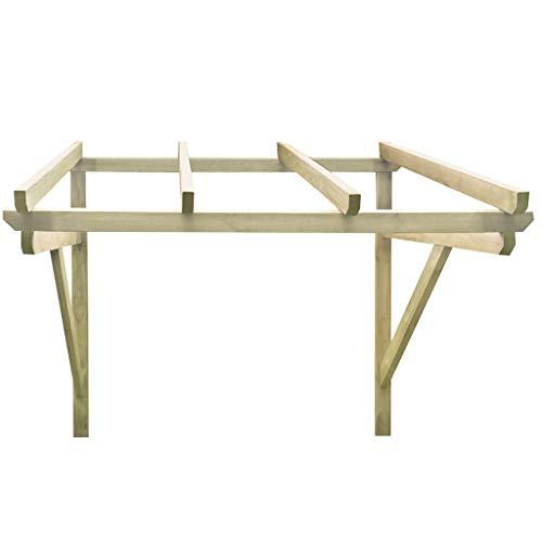 Festnight Türvordach Vordach Haustür Überdachung Holzvordach Pultvordach Haustürvordach Türdach 200×150×160 cm Kiefer Massivholz