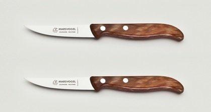 2x Küchenmesser, rückenspitz, rostfrei, 3
