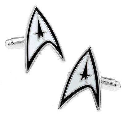 Gemelolandia | Gemelos Star Trek Logo Gemelos Originales Para Camisas | Para Hombres y Niños | Regalos Para Bodas, Comuniones, Bautizos y Otros Eventos