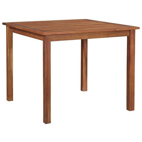 vidaXL Akazienholz Massiv Gartentisch Rustikal Esstisch Balkontisch Holztisch Massivholztisch Gartenmöbel Tisch Terrassentisch 85x85x74cm