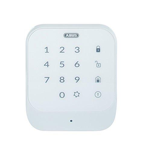 ABUS Smartvest Funk-Bedienteil FUBE35011A - Zur De- und Aktivierung der Smartvest-Alarmanlage - mit beleuchtetem Touchpad - Weiß - 77444