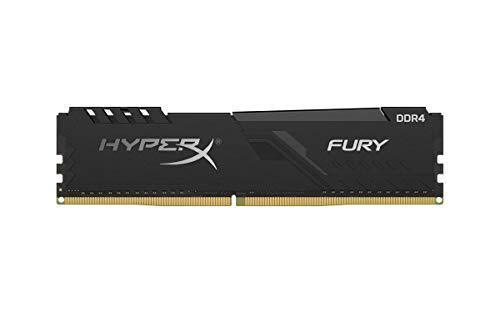 HyperX Fury 8GB 2400MHz DDR4 CL15 DIMM 1Rx8 Black XMP Desktop Memory Single Stick HX424C15FB3/8
