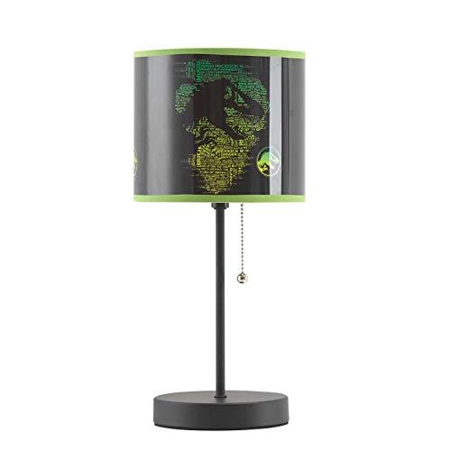 Idea Nuova Jurassic World Stick Table Lamp, Black, Model:NK430350