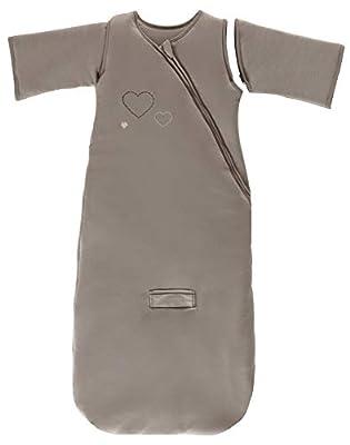 P'tit Basile - Mono de invierno con mangas desmontables, 100% algodón biológico (TOG 3), diseño con bordado de corazones