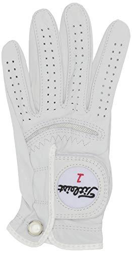 Titleist Perma Soft Golf Glove Womens Reg LH Pearl, White(Medium, Worn on Left Hand)