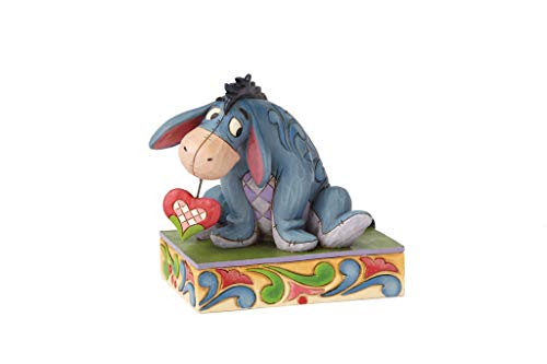 Enesco Disney Traditions by Jim Shore Winnie The Pooh Eeyore Heart on a String Personality Pose Figurine, 3.5 Inch, Multicolour