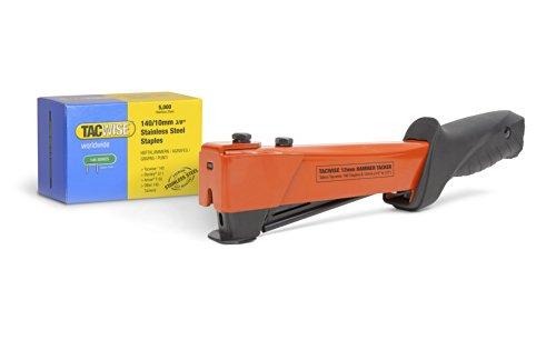 Tacwise 1221 A54 Hammer Tacker mit 5.000 Stück Typ 140/10mm Edelstahlklammern