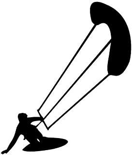 Kite Surfing Aufkleber Surf Sport Aufkleber in den Größen 10cm,15cm,20cm oder 25cm (15cm, Schwarz Glanz)
