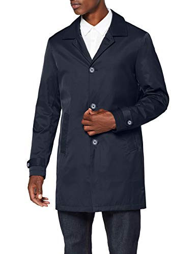 Amazon-Marke: find. Herren Mantel Mac, Blau (Navy), L, Label: L