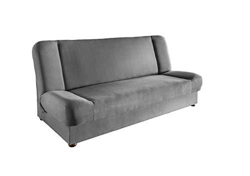 lifestyle4living Schlafsofa in Grau | Sofa mit Bettkasten | Funktionssofa mit Federkern-Polsterung