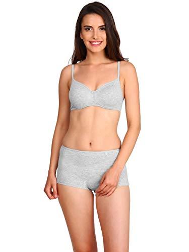 Jockey Women's Cotton Padded Non Wired T-Shirt Bra (FE23, Light Grey Melange, 32B)