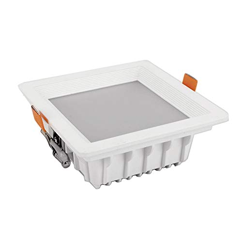 Downlight LED cuadrado empotrable 24W 4000K 1900 Lm. Color blanco 180x67mm, diámetro...