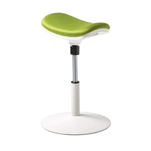 BAR STOOL NAN Liang Tabouret de Bureau Debout Réglage de la Hauteur Compatible avec Un siège de 48 à 63 cm Fauteuil pivotant à ergonomie Flexible (Noir, Vert) (Couleur : Vert)
