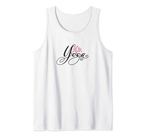 Flor de loto con regalo de escritura de yoga para meditación Camiseta sin Mangas