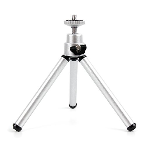 DURAGADGET Lightweight Aluminium Tripod w/Sturdy Collapsible Legs - Compatible with PowerLead Pcam PDC001 2.7 inch TFT LCD HD Mini Digital Camera