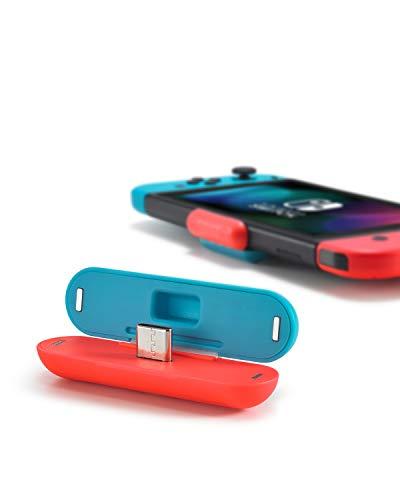 Adattatore audio per N-Switch, trasmettitore Bluetooth, ricevitore microfono integrato, chat vocale, 2 cuffie con lo stesso tempo, AptX e USB-C, bassa latenza, per cuffie wireless e Airpod