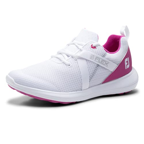Footjoy Damen Wn Fj Flex Golfschuh, Blanco/Rosa, 38 EU