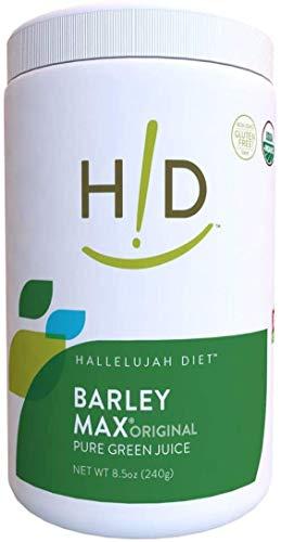 Hallelujah Diet Organic BarleyMax - Barley Grass Juice and Alfalfa Juice Powder, Vegan Formula, Plant-Based Dietary Supplement, Health Food Products, Original, 120 Servings, 8.5 Ounce Bottle