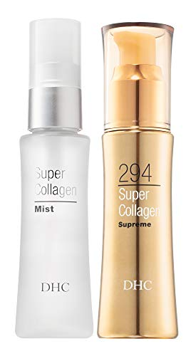 DHC Super Collagen Mist and Super Collagen Supreme, Hydrating Face Mist, Collagen-boosting, Facial Serum, Fragrance and Colorant Free, Ideal for all skin types, 1.6 fl. oz and 1.6 fl. oz.