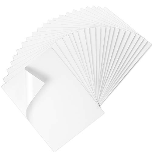 Premium Printable Vinyl Sticker Paper for Inkjet Printer - 25 Matte White Waterproof Decal Paper Sheets - Dries Quickly and Holds Ink Beautifully
