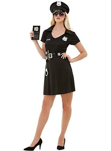Funidelia   Disfraz de policía para Mujer Talla L ▶ Guardia, Agente, FBI, Profesiones - Negro