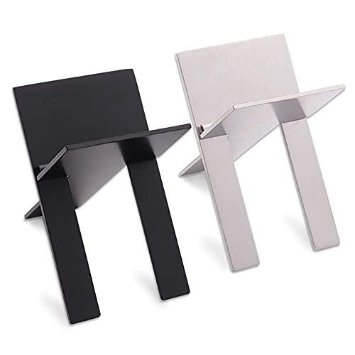 Beautifultracy 2 Pieces Stainless Steel Foldable Cigar Holder Cigar Travel Stand Rest Cigar Stand Rack for Cigarette Supplies
