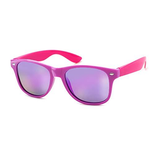 Kiddus Gafas de Sol POLARIZADAS para niña niño chica chico. UV400 Protección 100% contra rayos ultravioleta. A partir de 6 años. RESISTENTES a los golpes. Seguras, ligeras y confortables (Lila Rosa)