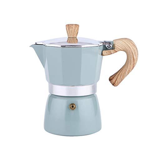 Espressokocher aus Aluminium, für 6 Tassen 300 ml, Mokka-Kaffeekanne, Herdplatte, Kaffeebereiter für großartigen, starken Espresso, klassischer italienischer Stil