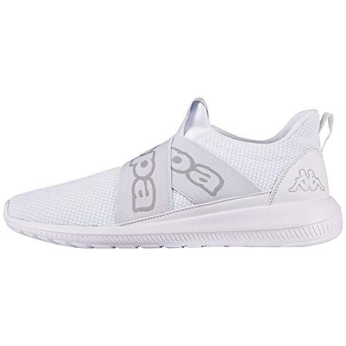 Kappa Męskie buty Faster II Sneaker, biały - biały 1014 White L Grey - 46 EU