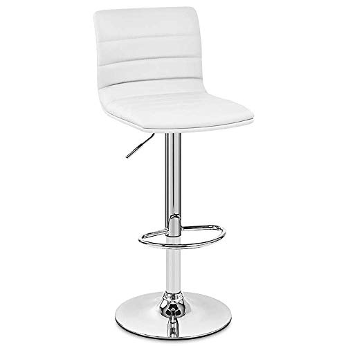 WJT-Barstool Bar Chair Lift High Swivel Chair Fashion European Rotating Bar Chair Modern Minimalist Chair Size: 42×42×58-81cm (Color : White)