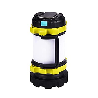 Camping Lantern Rechargeable Battery Powered with LED 4000mAh Power Bank, Waterproof Tactical Flashlightings for Home Power Failure – Tent Light– Hurricane Supplies-Outdoor Lanterns