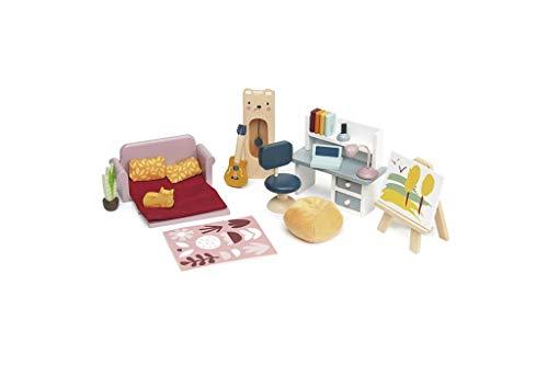 Tender Leaf Toys Puppenhaus-Möbel-Set aus Holz, inspirieren fantasievolles Spielen für Kinder ab 3 Jahren