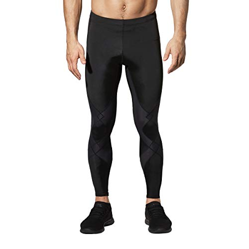 CW-X Men's Stabilyx Joint Support Compression Tights, Black, Large Long (LT)
