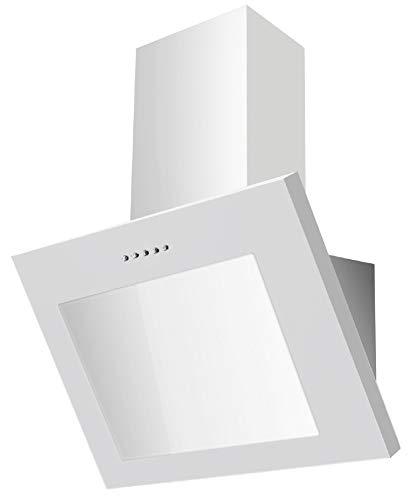 PKM S28-60 BWPY Dunstabzugshaube 60cm Glas weiß Kopffreihaube LED
