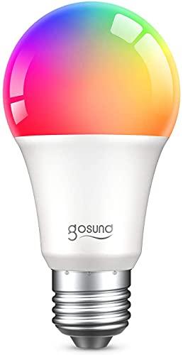 Lampadina WiFi Alexa E27,igosund 8W Smart Lampadine LED RGB Intelligente Controllo App,,Funziona con Alexa e Google Home,Luci Calde e 16 Milioni di Colori,Dimmerabile, Risparmio Energetico