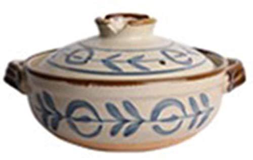 DUDDP Cacerola Utensilios de cookware Terracotta Casserole Platos con Tapas de Arcilla Casserole-Alta Temperatura Resistente, Saludable y Duradera (Color : B, Size : 0.8L)