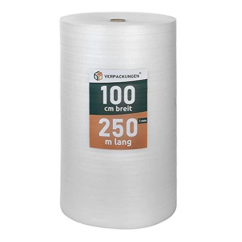 BB-Verpackungen 250 m² Trittschalldämmung (1 mm stark, sehr gute Schall- und Wärmedämmung) - Sets zwischen 250 m² und 500 m²