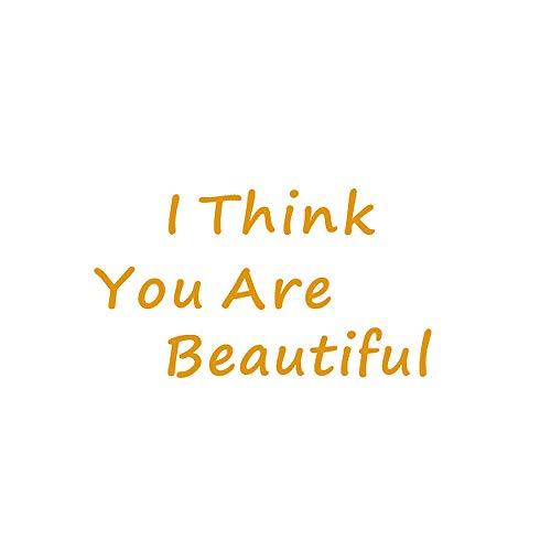 Vinyl Quote Spiegel Decoratieve Stickers voor Meisjeskamer, inspireren jezelf muurstickers voor meisjes - Ik denk dat je mooi bent M