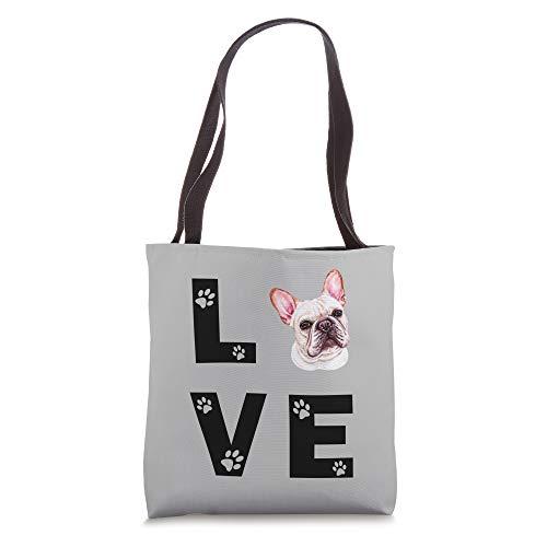 FRENCHIE Dog FRENCH BULLDOG Puppy Love Gift Tote Bag