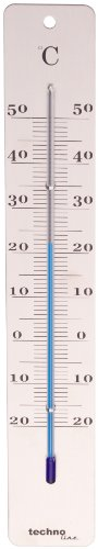 Technoline WA 3020 Metalen thermometer, zilver, 4,5 x 1,5 x 28,0 cm