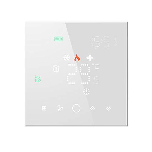 Beok Termostato Wifi para calefacción de suelo de agua Termorregulador digital para el hogar Termostato programable semanal Funciona con Alexa Tuya