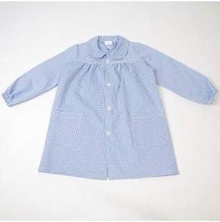 Bata Escolar con Botones Celeste - Medida Bata Infantil - 10 años (128-140 cm de Altura)