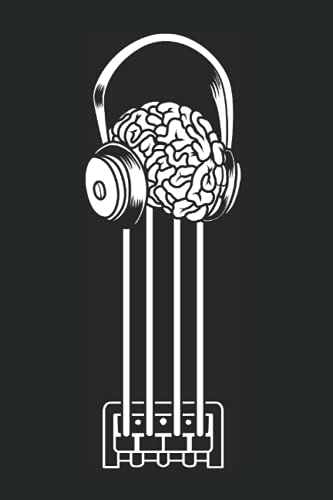 Bass Guitar Brain And Headphones - Bassist Bass Player Notebook: Daily Planner I Journal For Daily Notes I Daybook Logbook Gift I 110 Pages Dotted Lined I 6 X 9 Inches