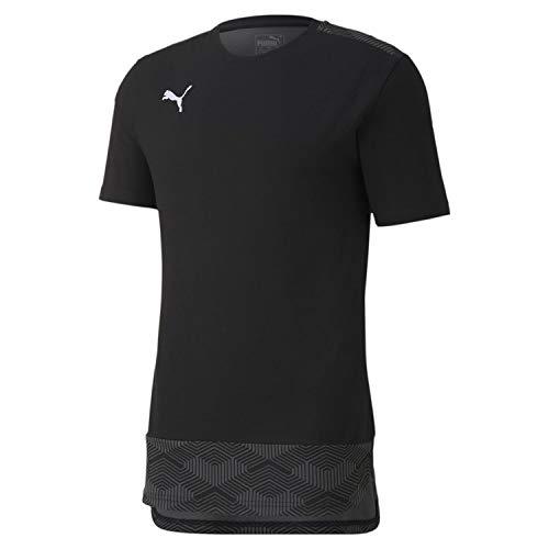 PUMA teamFINAL 21 Casuals tee Camiseta, Hombre, Negro, Medium